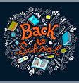 stationery collection outline style back to vector image