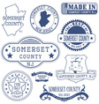 Somerset county New Jersey stamps and seals vector image