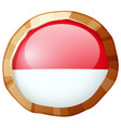 round icon for indonesia flag vector image vector image