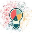 lightbulb infographic template vector image