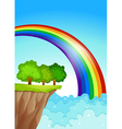 A beautiful rainbow in the sky vector image