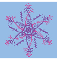 ornament kaleidoscopic floral pattern vector image