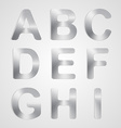 Metal Alphabet Set vector image