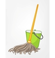 cartoon home miscellaneous mop vector image