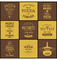 Set of vintage pizza typographic quotes vector image
