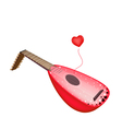 A Beautiful Antique Lute Playing Love Song vector image