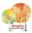 Autumn square background vector image