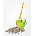 cartoon home miscellaneous mop vector image