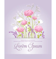 Composition with peonies lavender and wild flowers vector image