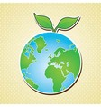 Earth planet and nature icons vector image