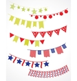 garlands vector image