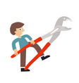 man with wrench icon vector image