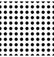 Polka dot black seamless pattern vector image