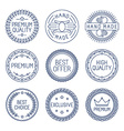 set of premium labels vector image