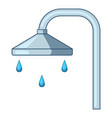 shower icon cartoon style vector image
