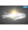 sun clouds and sky forecast background cool vector image
