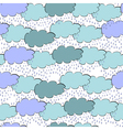Seamless wallpaper with clouds vector image