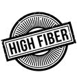 High Fiber rubber stamp vector image