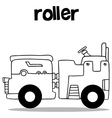 Hand draw of roller collection vector image