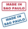 Made In Sao Paulo Rubber Stamps vector image