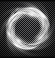smoke ring light effect with trasparency vector image vector image