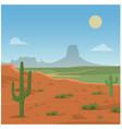 desert scene vector image
