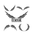 Wing element for design 001 vector image
