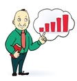 Businessman character Think positive design Up vector image