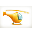 Funny helicopter icon vector image