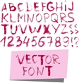 grunge watercolor font vector image