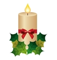 candle flame christmas isolated icon vector image