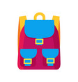 colorful childish backpack vector image