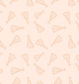 Doodled seamless pattern birthday hats Endless vector image