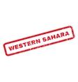 Western Sahara Rubber Stamp vector image