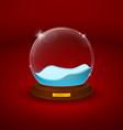 snow dome or crystal ball vector image