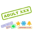 Adult XXX Rubber Stamp vector image
