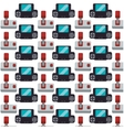 gamepad joystick collection seamless pattern vector image