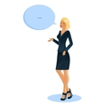 Speaking business woman vector image