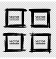 square frames of thick textured strokes made with vector image vector image