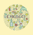 chicago concept vector image
