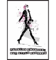 fashion quote vector image