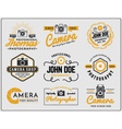 Set of photography and camera service logo vector image vector image