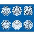 Paper snowflake origami icon Christmas theme vector image