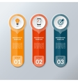infographic layout template with 3 options vector image vector image