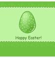 Easter greetings card vector image vector image
