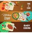 Vegetables Banner Set vector image