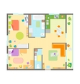 Apartment Floor Plan with Furniture Top View vector image