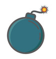 bomb colorful line icon dynamite and danger vector image