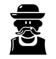 gardener man icon simple style vector image