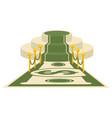 Money award carpet vector image